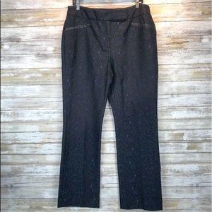 Like New Chico's black label blue lace pant sz 10